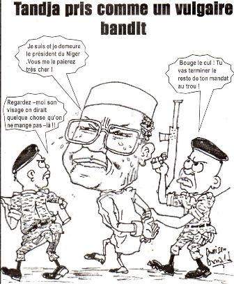 coup-dEtat-Tandja,image du caricaturiste togolais donald donisen